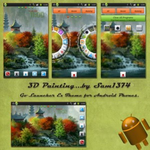 3d painting wallpaper theme for android