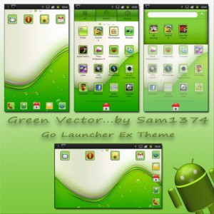green vector android mobile theme