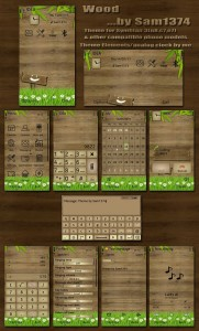 wooden theme for nokia N8 S3 by sam