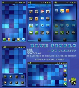 Free android theme Blue Pixels Android Theme by Sam1374
