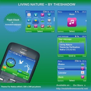 Nokia C3 theme Living Nature by TheShadow