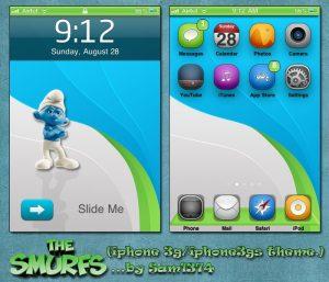 Free iphone theme smurfs by Sam1374
