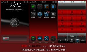 free iphone themes red and black by sam