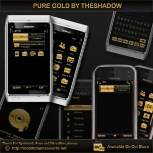Pure Gold black premium theme by TheSHadow
