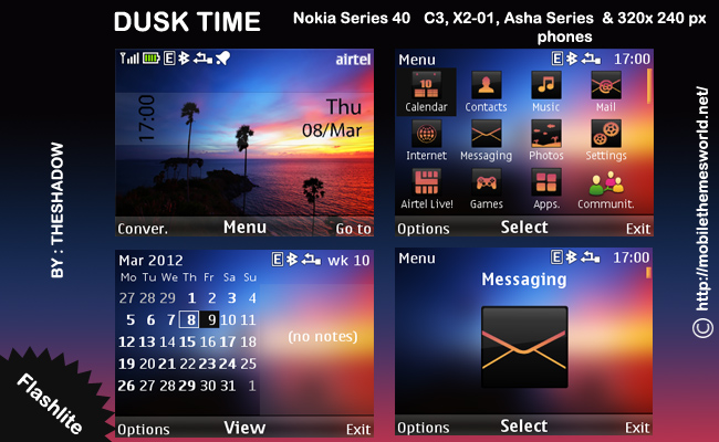 Dusk nature theme for nokia phones
