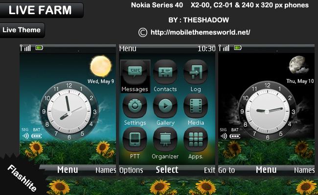 Live farm live nokia x2 theme by theshadow
