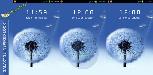 Samsung Galaxy S3 Inspired Lockscreen Theme Go Locker for Android phones