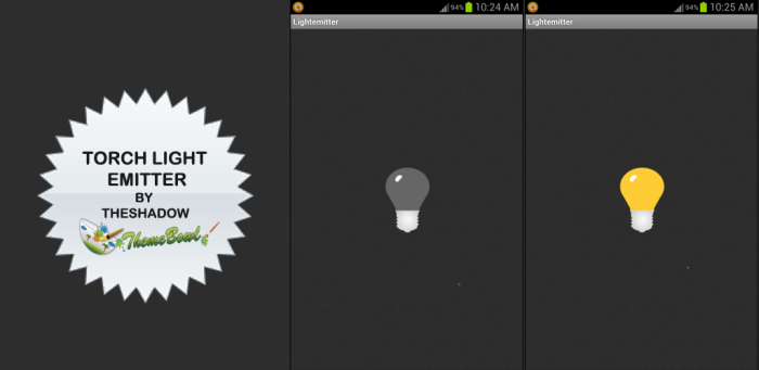Torch Light Emitter Free Android App by TheShadow of ThemeBowl