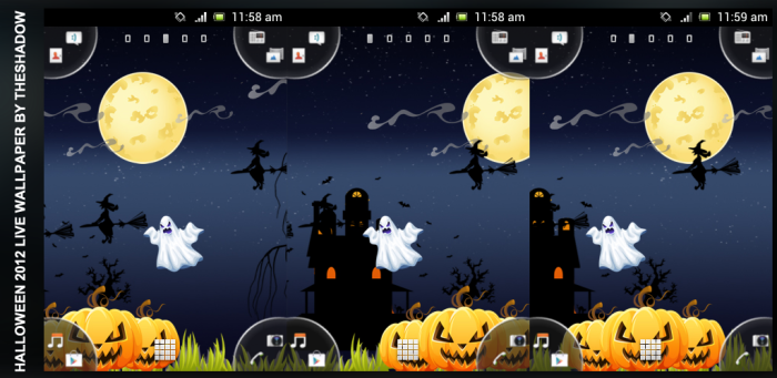 Halloween Night Free Live Wallpaper 2012 by TheShadow Android App