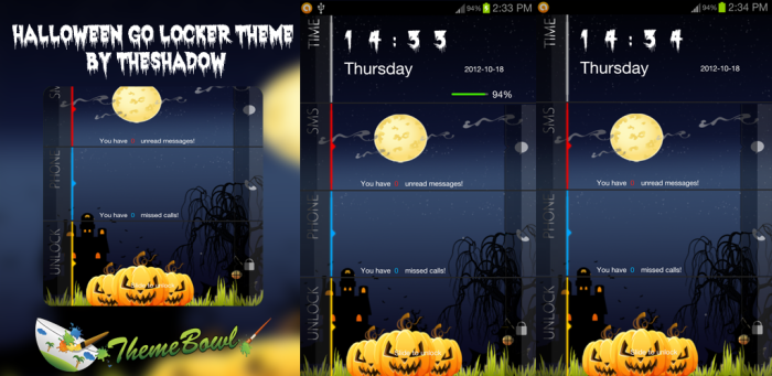 Halloween Night 2012 Freemium Go Locker Theme by TheShadow of themebowl