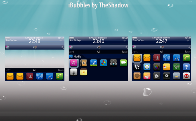 iBubbles Blackberry Theme by TheShadow of themebowl