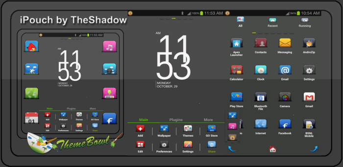 iPouch Go Launcher Ex theme by TheShadow