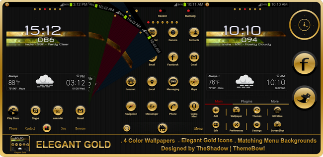 Elegant Gold Premium Android Theme preview by TheShadow