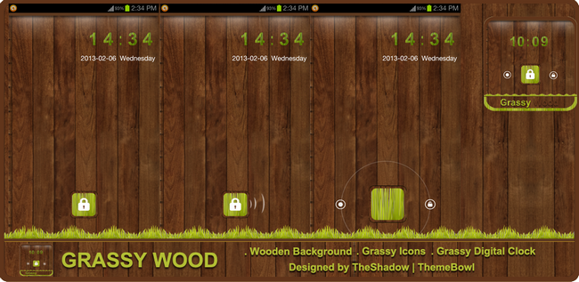 Grassy Wood Go Locker Theme for Android Phones by TheShadow
