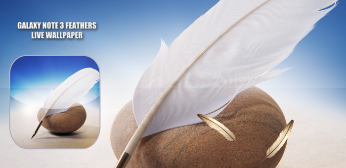 Galaxy Note 3 Feathers Free Android Live Wallpaper