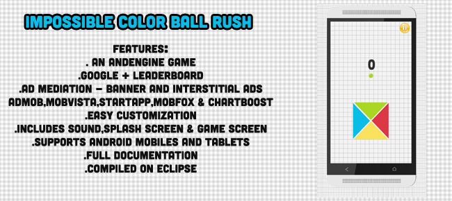 Impossible Rush Color Ball Andengine Android Game Source Code