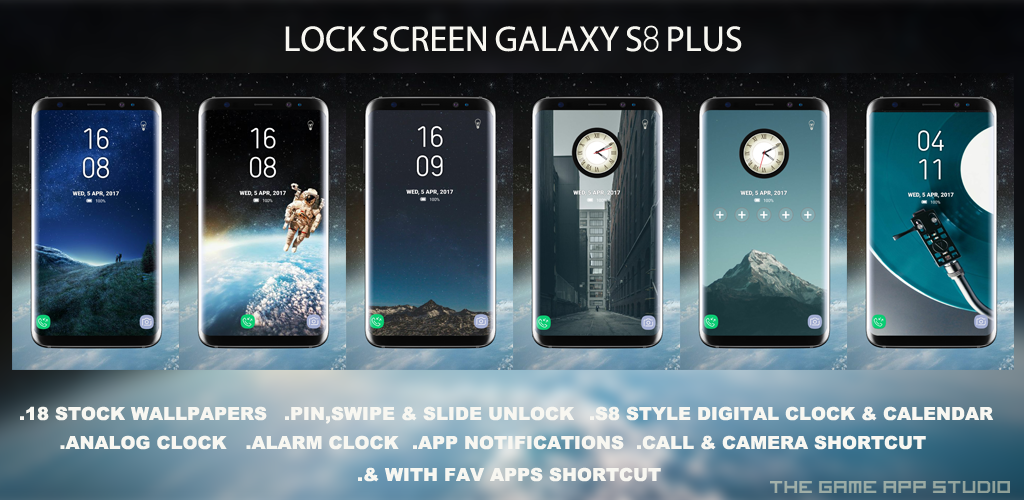 Galaxy S8 Plus Lock Screen Theme For Android Themebowl